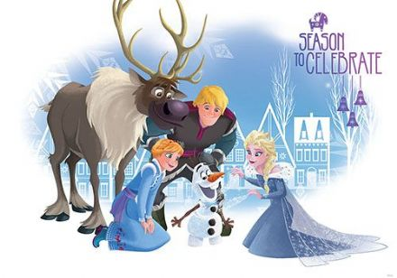 Wallpaper mural Disney Frozen movie Characters